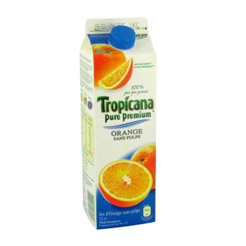 Tropicana Orange sans pulpe