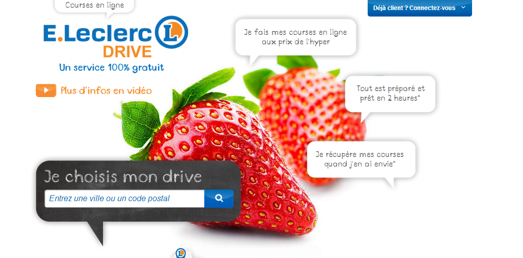 Courses en ligne  : E. Leclerc Drive