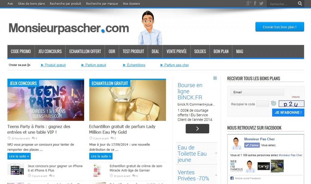 Site de bons plans Monsieurpascher.com