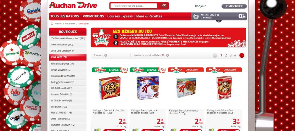 Loterie Drive Win Auchan Drive
