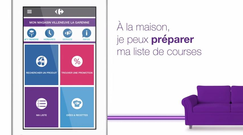 Application mobile Carrefour C-où