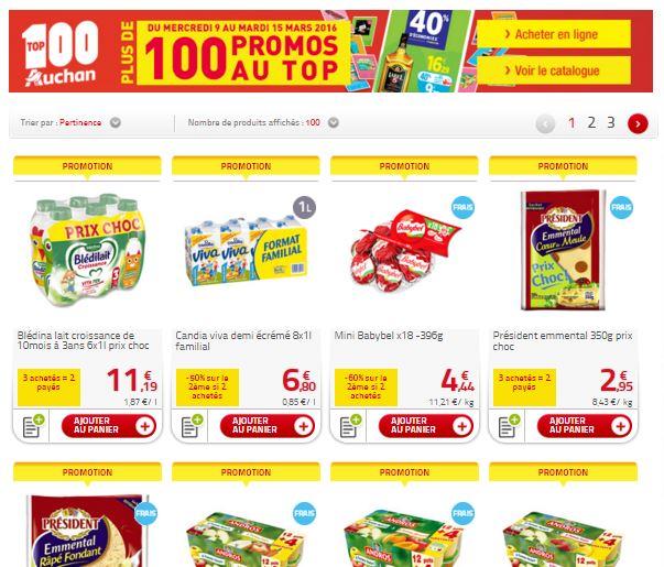Op ration promo auchan drive top 100 des produits du quotidien - Promo couche pampers auchan ...