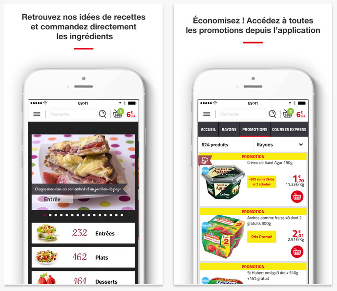 Application mobile Auchan Drive