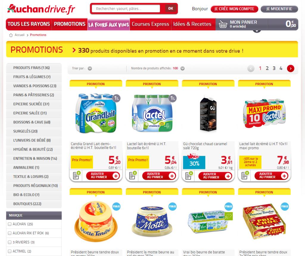 Site internet Auchan Drive