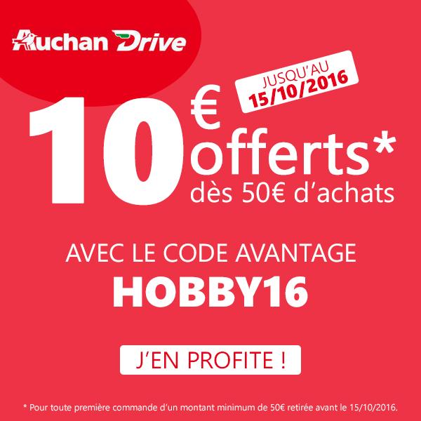 Code Promo Auchan Drive Octobre 2016