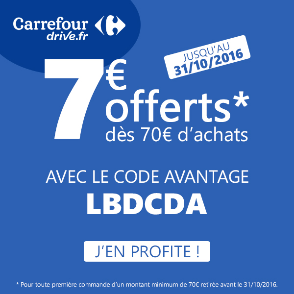 Code Promo Carrefour Drive Octobre 2016