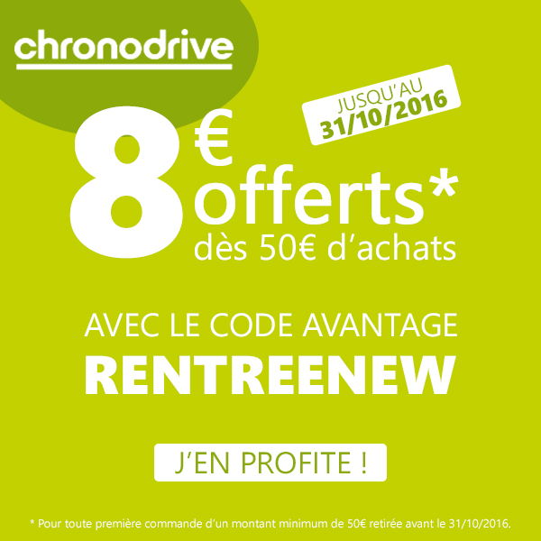 Code Promo Chronodrive Octobre 2016