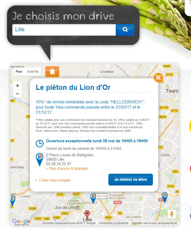 E. Leclerc Drive piéton - Lille Lion d'Or