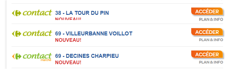 Carrefour Drive Contact Région Lyonnaise
