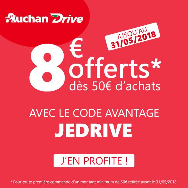 Code Promo Auchan Drive Mai 2018
