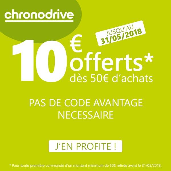 Code Promo Chronodrive Mai 2018