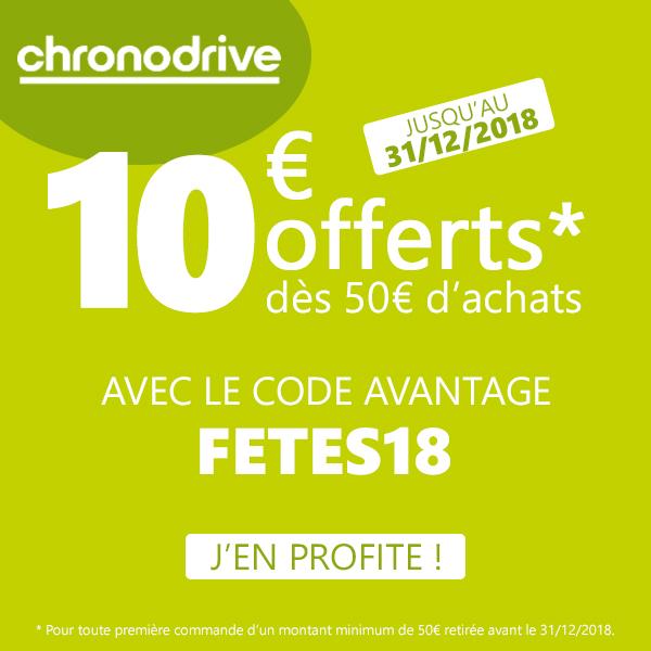 Code promo Chronodrive Décembre 2018