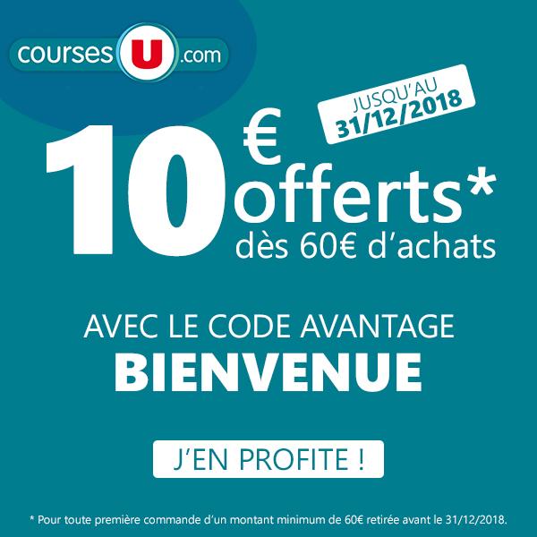 Code Promo Courses U Décembre 2018