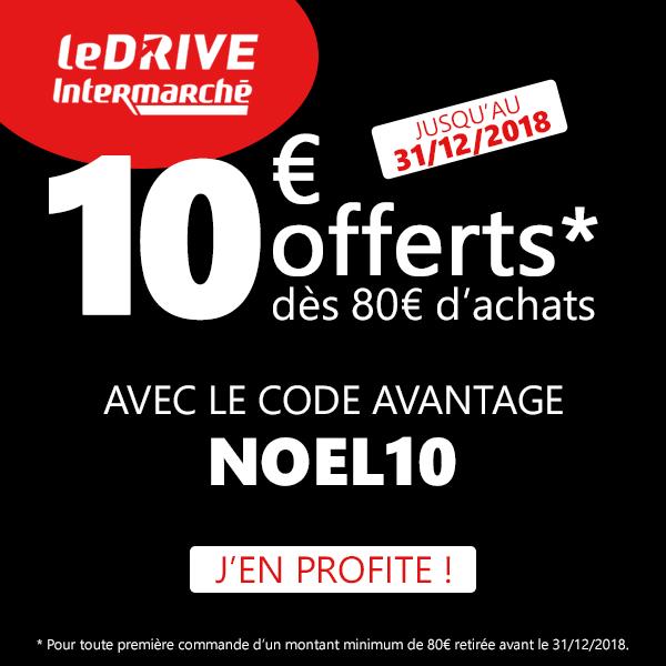 Code Promo Drive Intermarché Décembre 2018