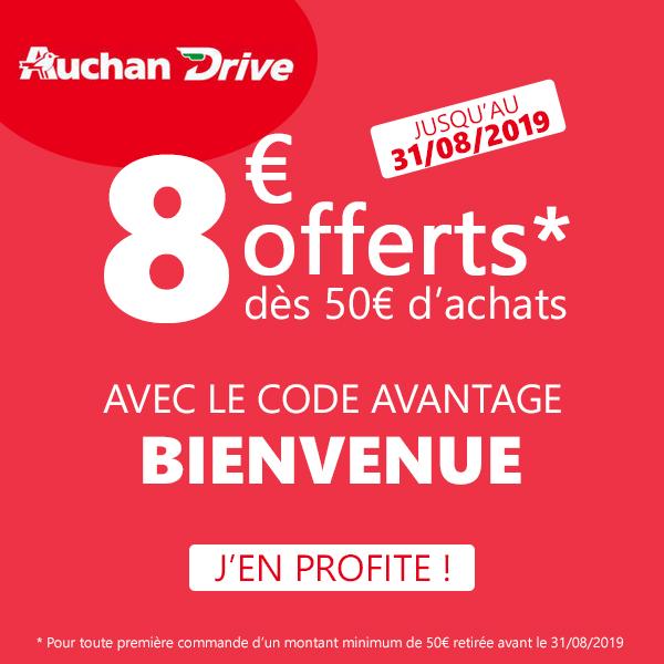 Code Promo Auchan Drive Août 2019