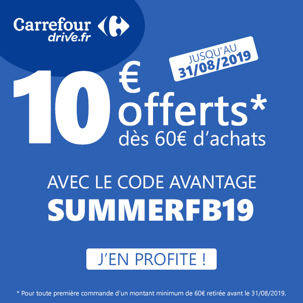 Code Promo Carrefour Drive Août 2019