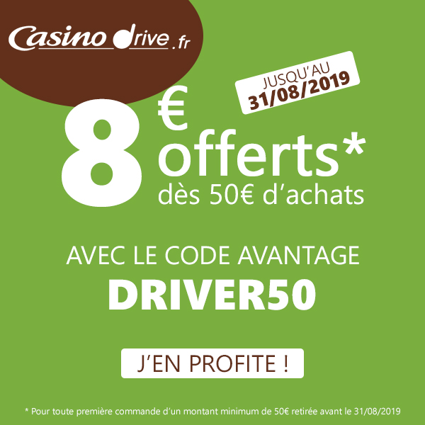 Code Promo Casino Drive Août 2019