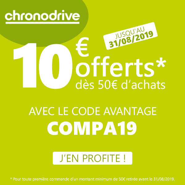 Code Promo Chronodrive Août 2019