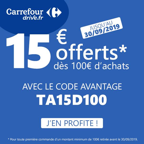 Code Promo Carrefour Drive Septembre 2019