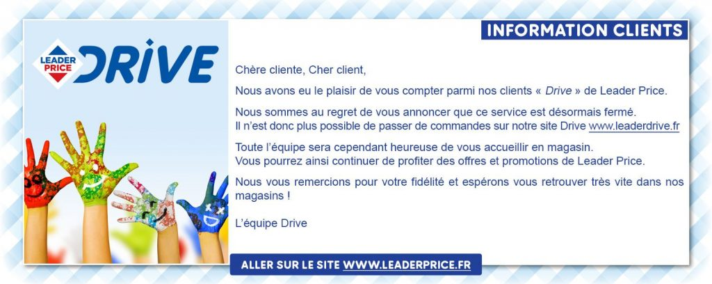 Leader Price ferme son drive
